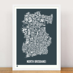 North Brisbane type print