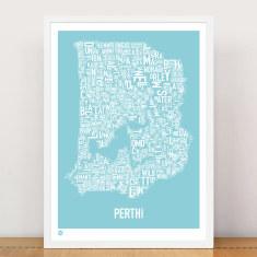 Perth type print