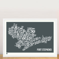 Port Stephens typographic print