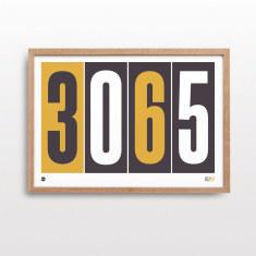 Personalised postcode pride print in mustard