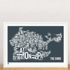 The Shire Sydney type print