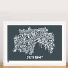 South Sydney type print