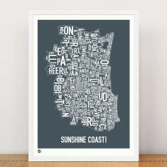 Sunshine Coast type print