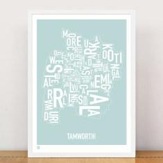 Tamworth type print