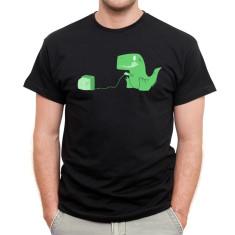 Gamesaurus rex men's black t-shirt