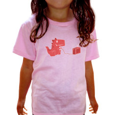 Gamesaurus Ruby kids' pink t-shirt