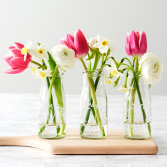 Personalised Mum Bottle Bud Vases (Set Of 3)