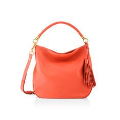 Harper Luxe Shoulder Bag - Epsom Orange
