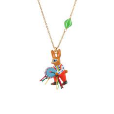 Drum Player Little Rabbit Necklace
