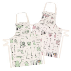 Green fingered organic gardening apron