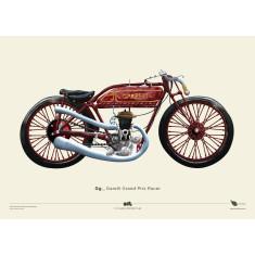 Garelli Grand Prix Racer motorcycle poster