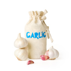 Garlic handmade eco storage bag