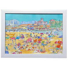 Bondi beach framed watercolour art print