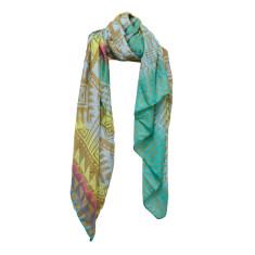 Aztec aqua spa scarf