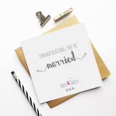 Personalised wedding greeting card