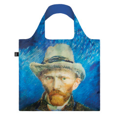 LOQI reusable bag in museum collection in self portrait