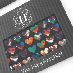 Marble Hearts a Liberty Hankies (set of 2)