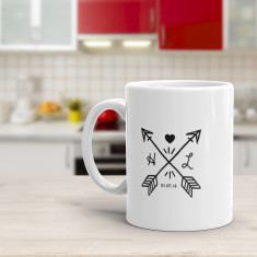 Monogram Love Mug - Custom Coffee Mug