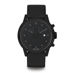 Hypergrand maverick chronograph black leather