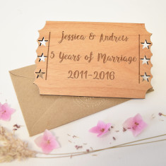 Personalised Wedding Anniversary Wooden Keepsake