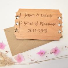 Personalised Wedding Anniversary Wooden Keepsake