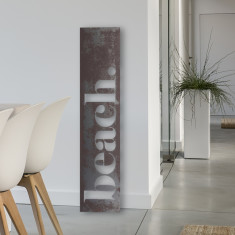 Beach recycled steel artwork for indoors and outdoors