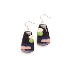 Petal earrings: rain