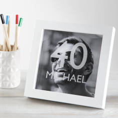 Personalised Milestone Birthday Photo Box Frame