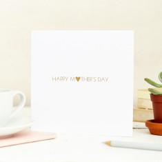 Personalised foil printed mothers day card