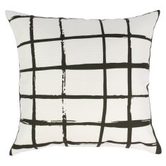 Indoor Cushion in BW Squares