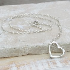Classic Silver Heart Necklace