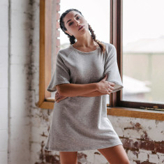 Organic cotton raglan dress