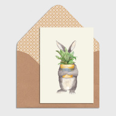 Bunny Easter Illustrated Greeting Cards (Pack of 4)