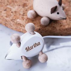 Personalised engraved name mouse keepsake