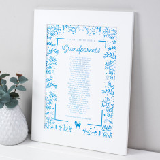 Grandparents Poem Scandi Print