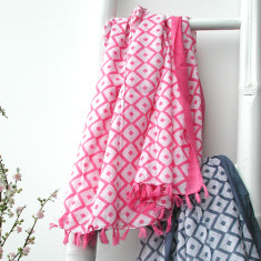 Personalised charlotte geo print scarf (various colours)
