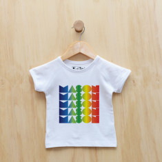 Personalised rainbow gradient boy t-shirt