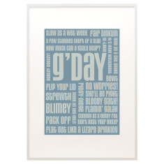 G'day text print