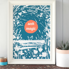Seek Magic Print For Child's Bedroom