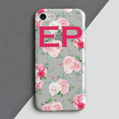 Personalised Clear Vintage Rose Phone Cover