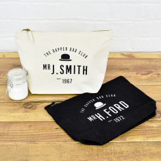 Personalised Dapper Dad Club Wash Bag