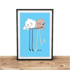 Rainbow Cuddles Giclee print