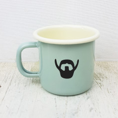 Beard Love Engraved Enamel Mug