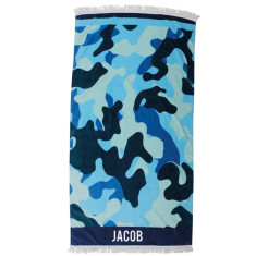 Personalised Beach Towel - Camo