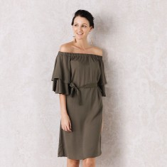 Sevilla Dress In Olive Green