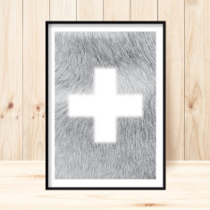 Swiss cross scandi art print