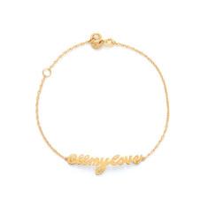 All my love bracelet gold vermeil