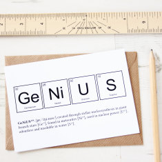 Elements of a genius card