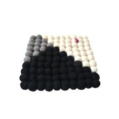 Geometric felt ball trivet
