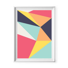 Geometric abstract print